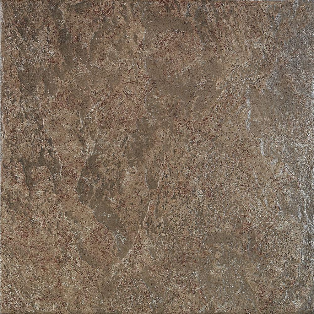 U.S. Ceramic Tile Craterlake 18 in. x 18 in. Bamboo Porcelain Floor and Wall Tile-DISCONTINUED
