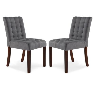 Dane Steel Gray Dining Chair (Set of 2)