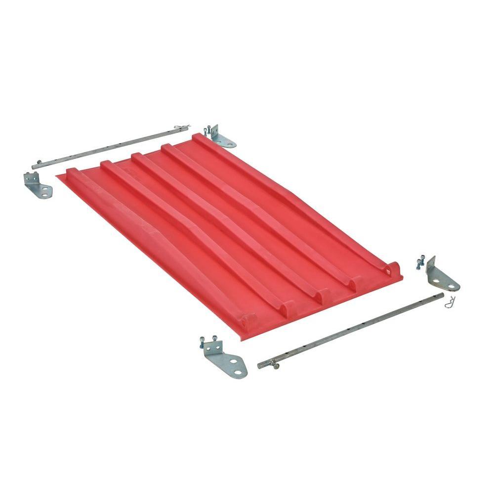 Vestil 0.25 cu. yd. Red Poly Lid for D Style Hopper