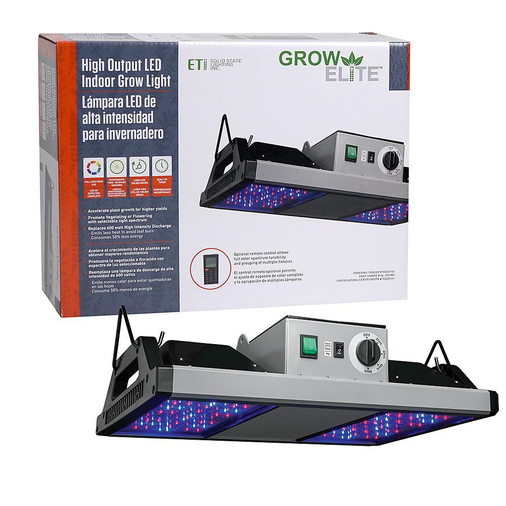 Indoor Grow Lights Home Depot: ETi GrowElite Brushed Nickel Integrated LED 250-Watt High