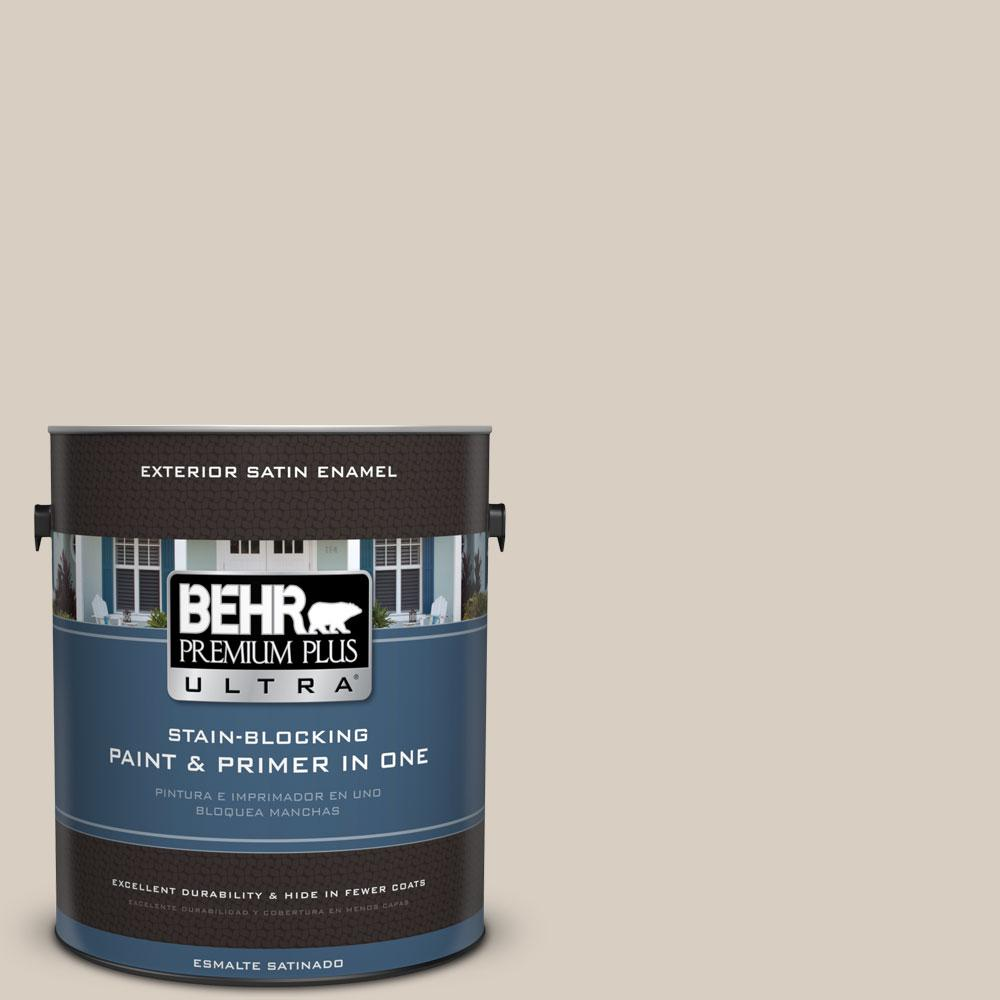BEHR Premium Plus Ultra 1-gal. #PPU7-9 Aged Beige Satin Enamel Exterior Paint