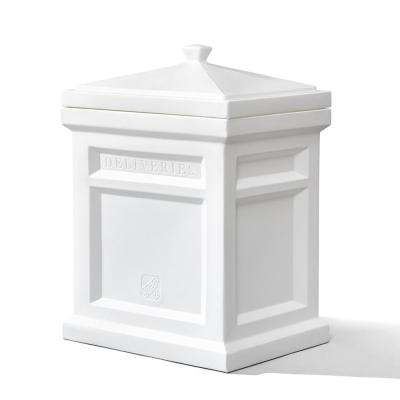 Parcel drop boxes residential mailboxes the home depot express plastic parcel delivery box white reheart Images