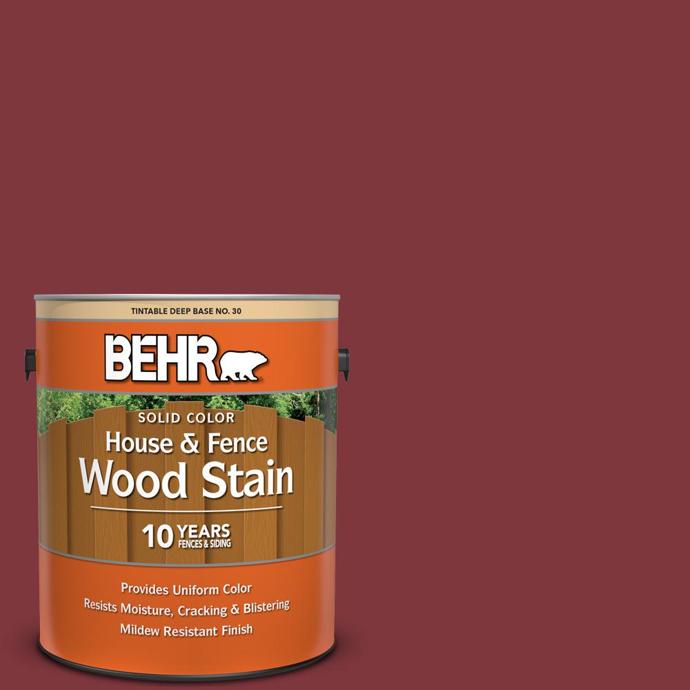 Behr 1 Gal Sc 112 Barn Red Solid Color House And Fence