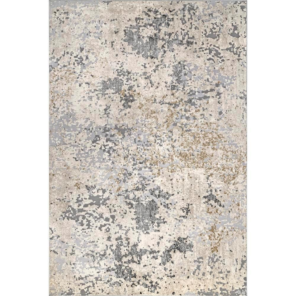 Contemporary Motto Abstract Beige 8 Ft. X 10 Ft. Area Rug by Nu Loom