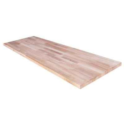 Unfinished Beech 8 ft. L x 25 in. D x 1.5 in. T Butcher Block Countertop