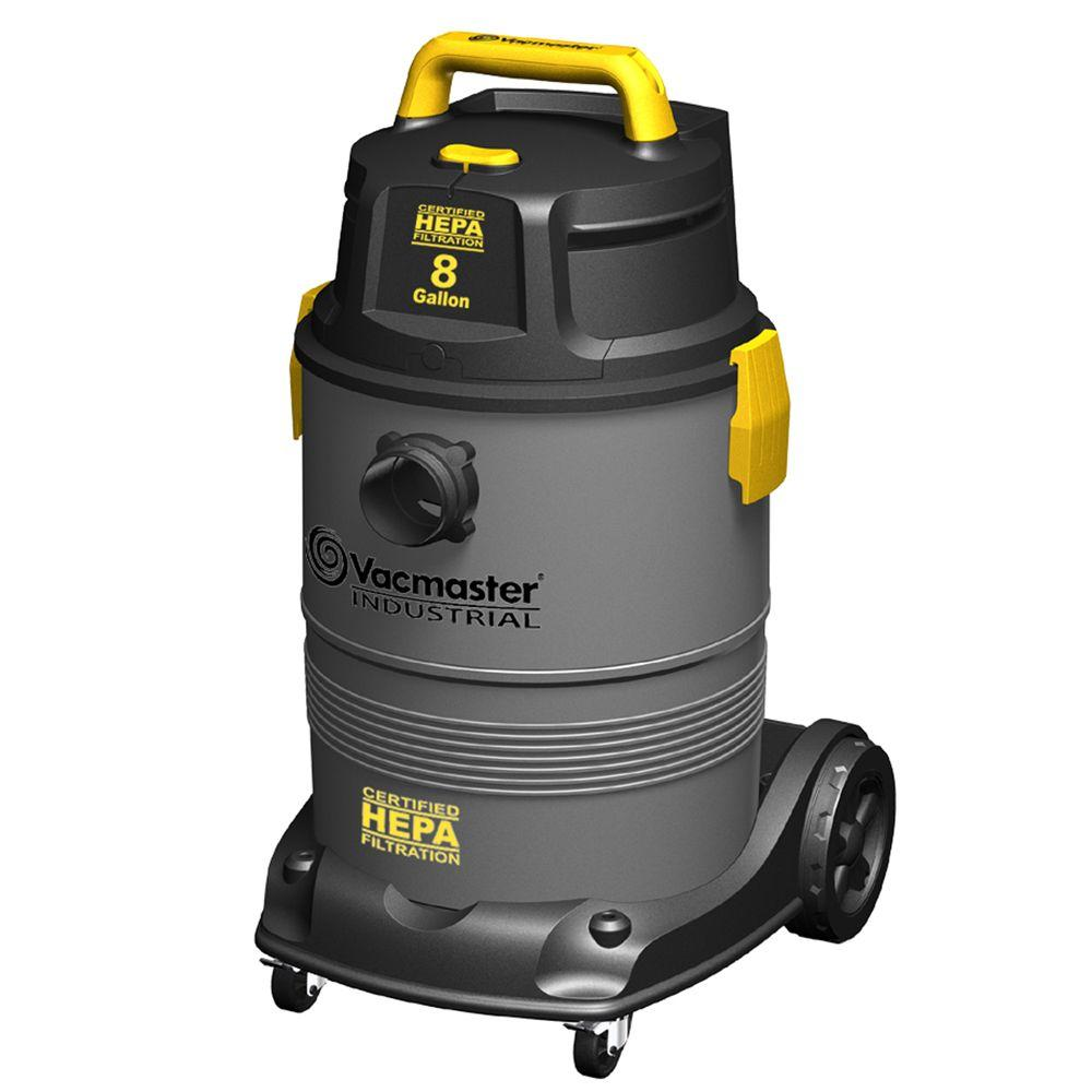 Vacmaster 8 Gal Hepa Industrial Wet Dry Vac With 2 Stage