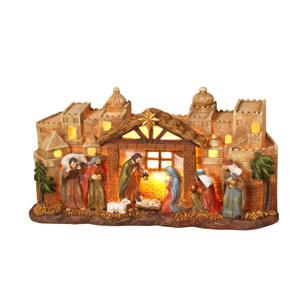7 in. H Lighted Nativity Scene