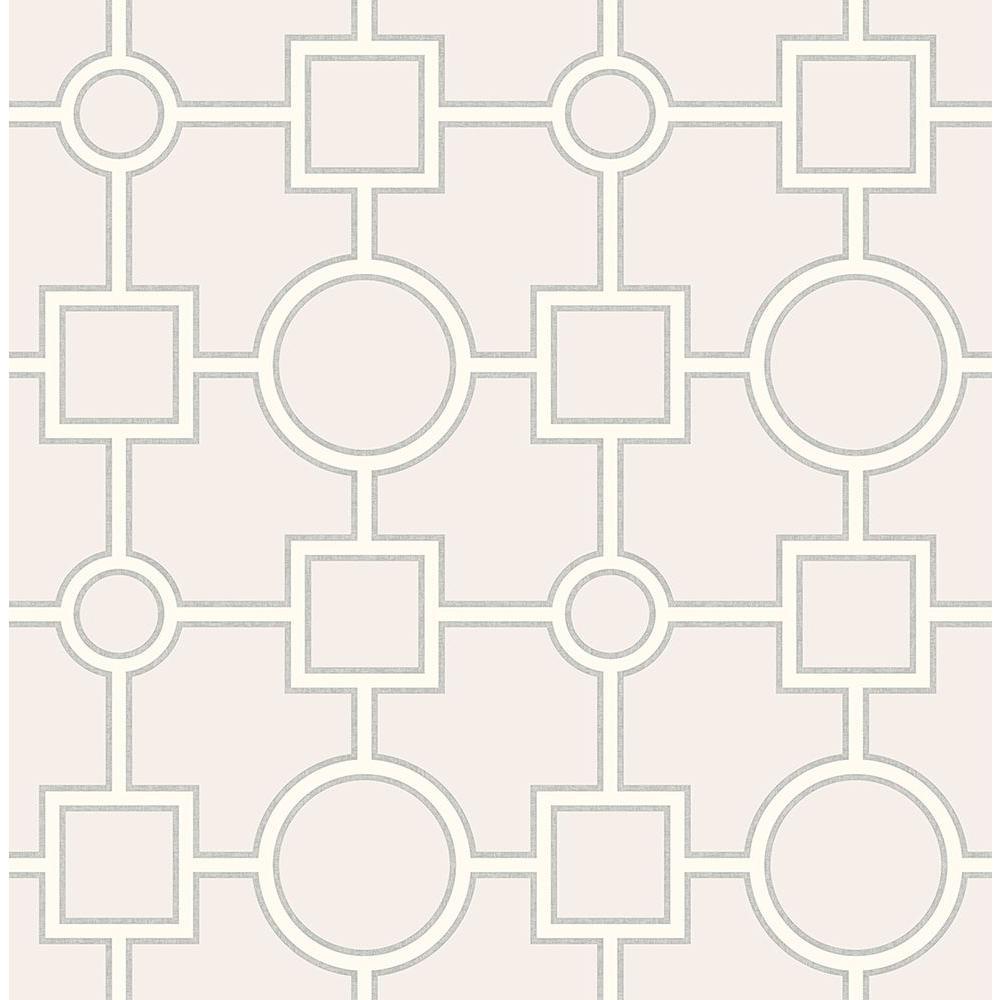 Matrix Light Grey Geometric Wallpaper