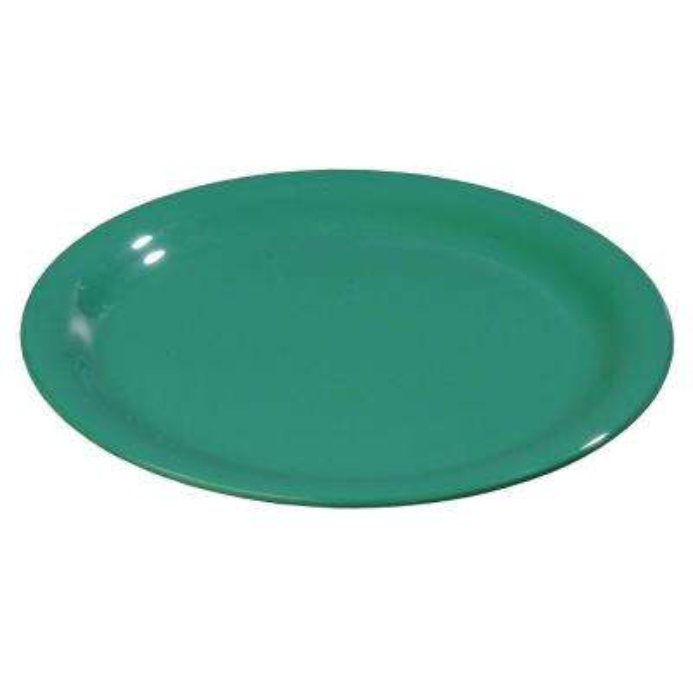 7.5 in. Diameter Melamine Wide Rim Salad Plate in Meadow Green (Case of 48)