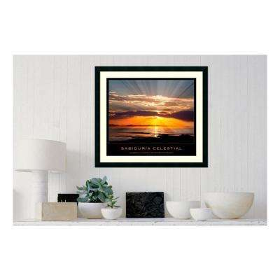 30.25 in. W x 27.13 in. H Sabiduria celestial' Printed Framed Wall Art