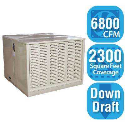 6,800 CFM Down-Draft Rigid Roof/Side Evap Cooler (Swamp Cooler) for 20 in. Ducts 2,300 sq. ft. (Motor Not Included)