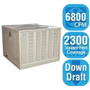 cfm downdraft rigid roofside evaporative cooler for 20 in ducts