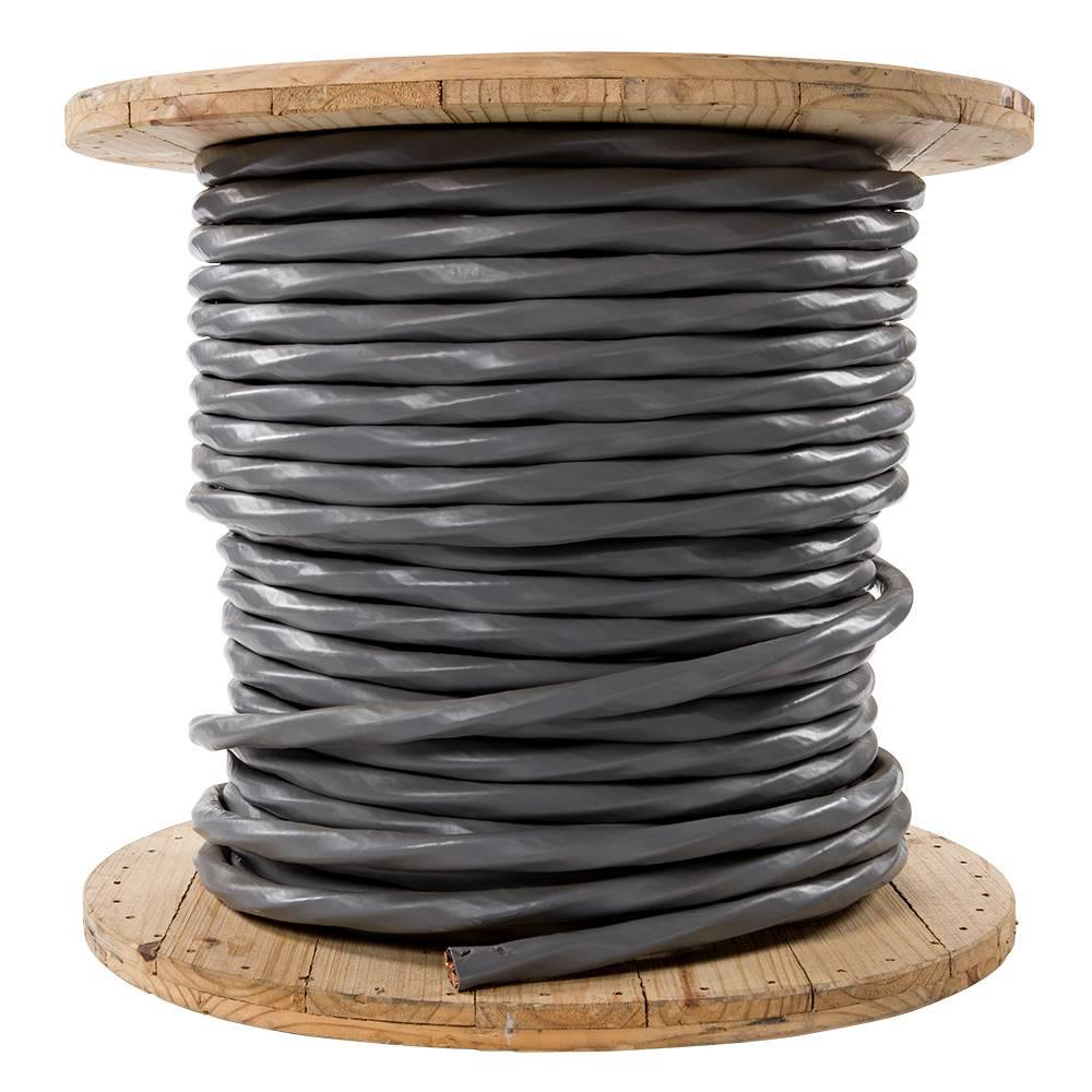 Southwire 500 ft. 2/0-2/0-2/0-1 Gray Stranded CU SER Cable