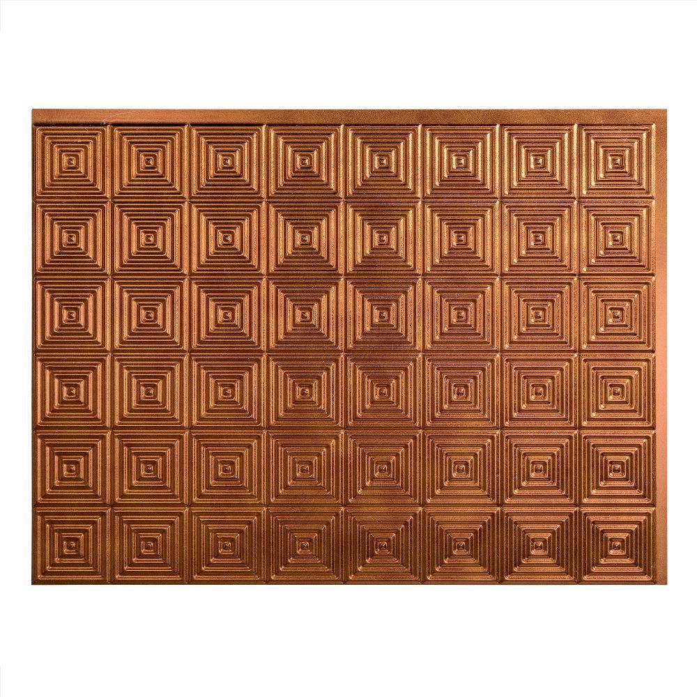 Miniquattro 18 in. x 24 in. Antique Bronze Vinyl Decorative Wall Tile Backsplash 18 sq. ft. Kit