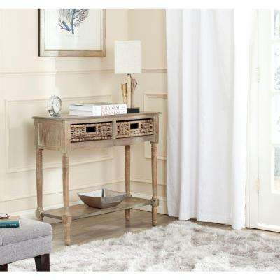 Corbin Washed Natural Pine Storage Console Table