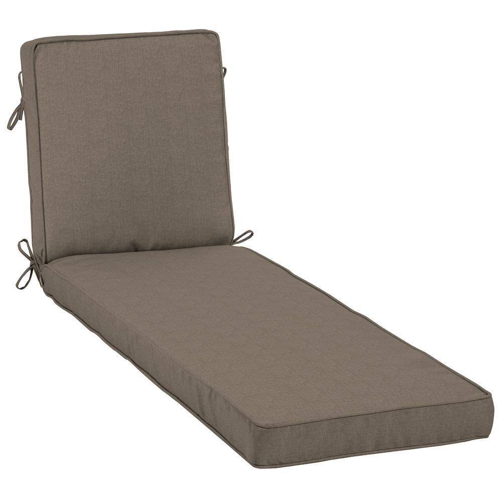 23 x 80 Sunbrella Cast Shale Outdoor Chaise Lounge Cushion