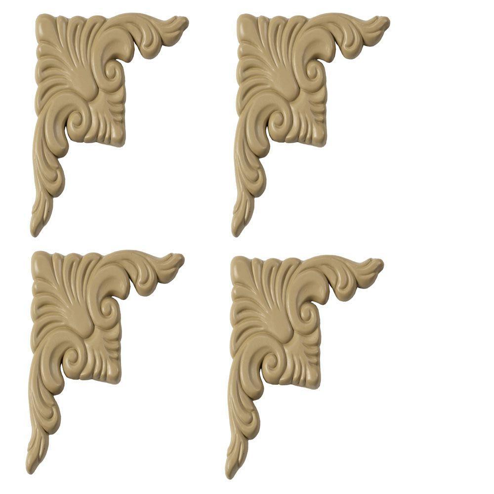 Regal Birch Decorative Corner Plates (4-Pack)