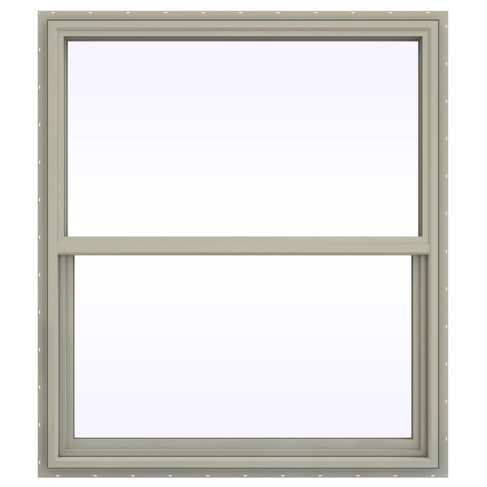 41.5 in. x 53.5 in. V-4500 Series Single Hung Vinyl Window