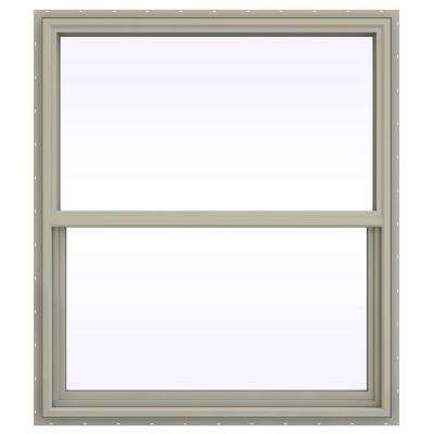 41.5 in. x 41.5 in. V-4500 Series Single Hung Vinyl Window - Tan