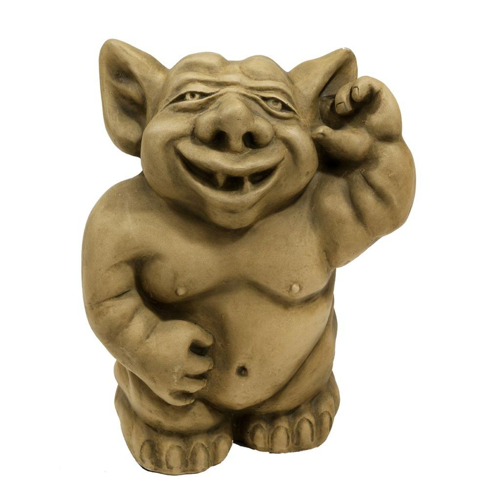 Design Toscano 8 in. Picc-A-Dilly Ear Gargoyle Statue-DISCONTINUED