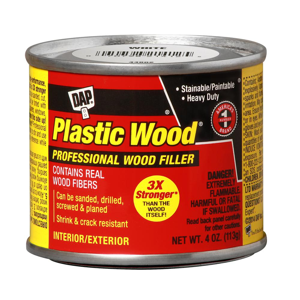 Plastic Wood 4 oz. White Solvent Wood Filler