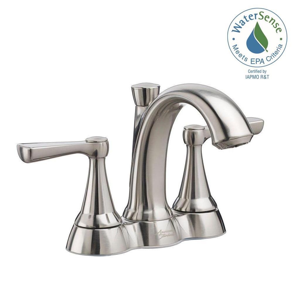 Kempton 4 in. Centerset 2-Handle Bathroom Faucet in Brushed Nickel