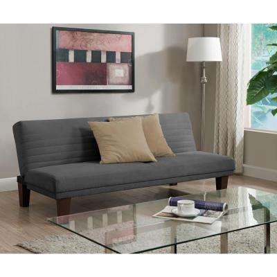 futon for living room. Dillan Gray Futon Classic  Futons Living Room Furniture The Home Depot