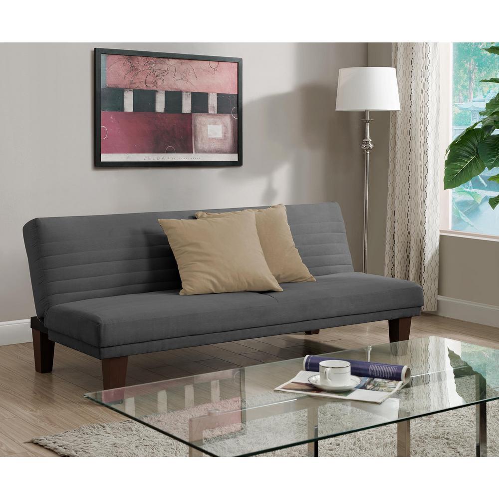 Dillan Gray FutonFutons   Sofa Beds   Living Room Furniture   The Home Depot. Futon Living Room Set. Home Design Ideas