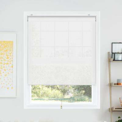 Snap-N'-Glide Sailcloth Tide Polyester Cordless Horizontal Roller Shades - 35 in. W x 72 in. L