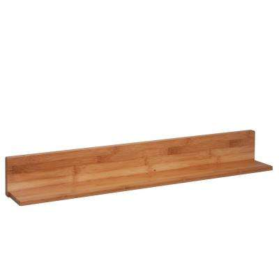29.53 in. W x 4.57 in. D, L-Shaped Wall Shelf in Bamboo, Decorative Shelf