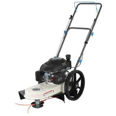 22 in. 173cc Gas Recoil Start Walk-Behind Push Field String Trimmer Mower with Adjustable Trimmer Head