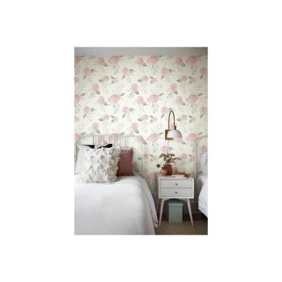 56 sq. ft. Watercolor Roses Wallpaper