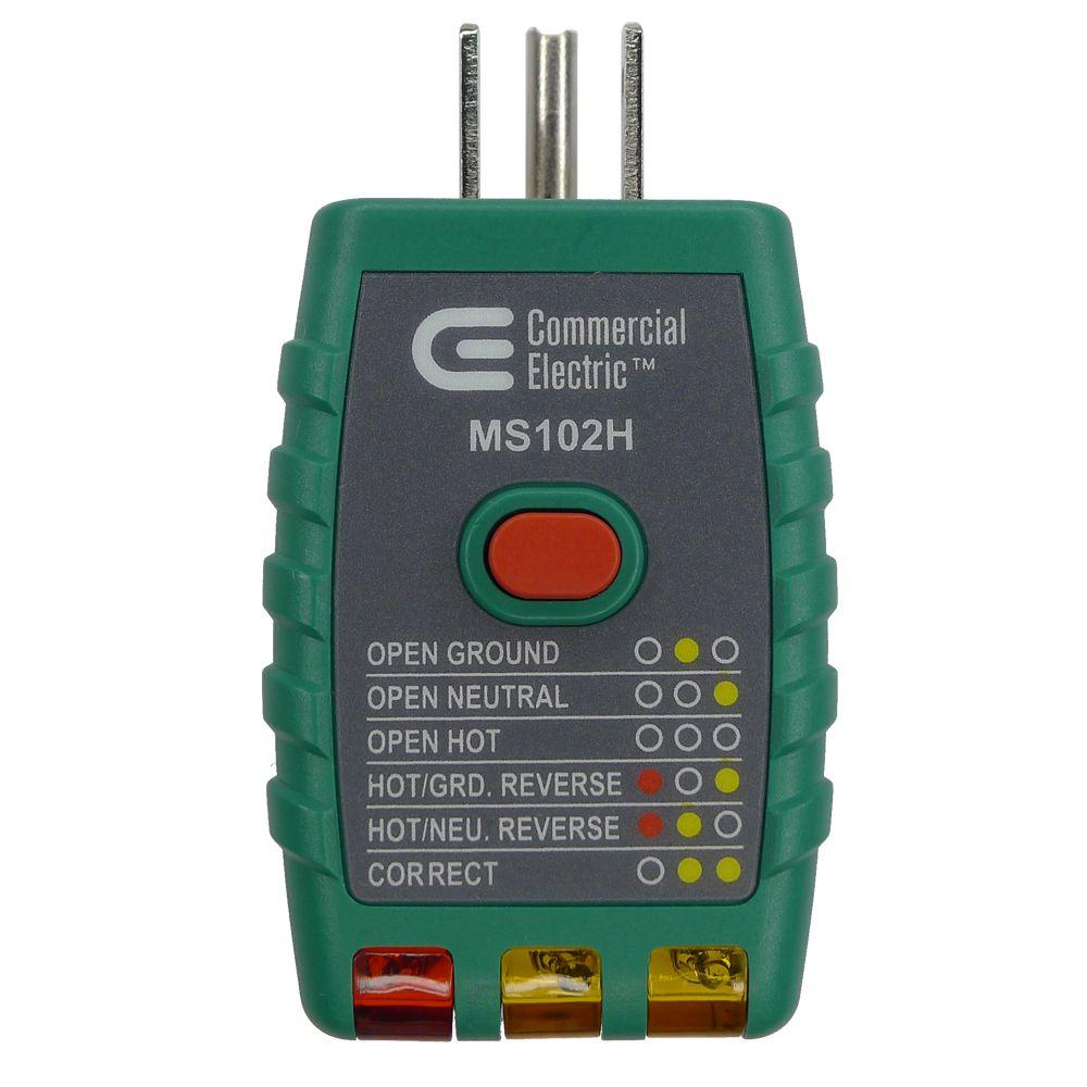Exceptionnel Commercial Electric Tools GFCI Outlet Tester, Green
