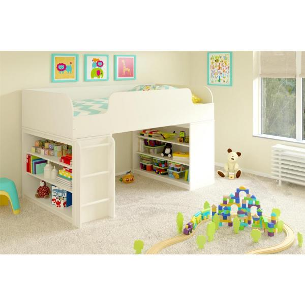 Ameriwood Elements 1-Piece White Twin Kids Bedroom Set