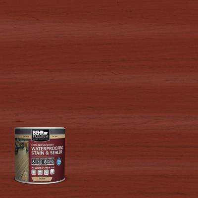 8 oz. #ST-330 Redwood Semi-Transparent Waterproofing Exterior Wood Stain and Sealer Sample