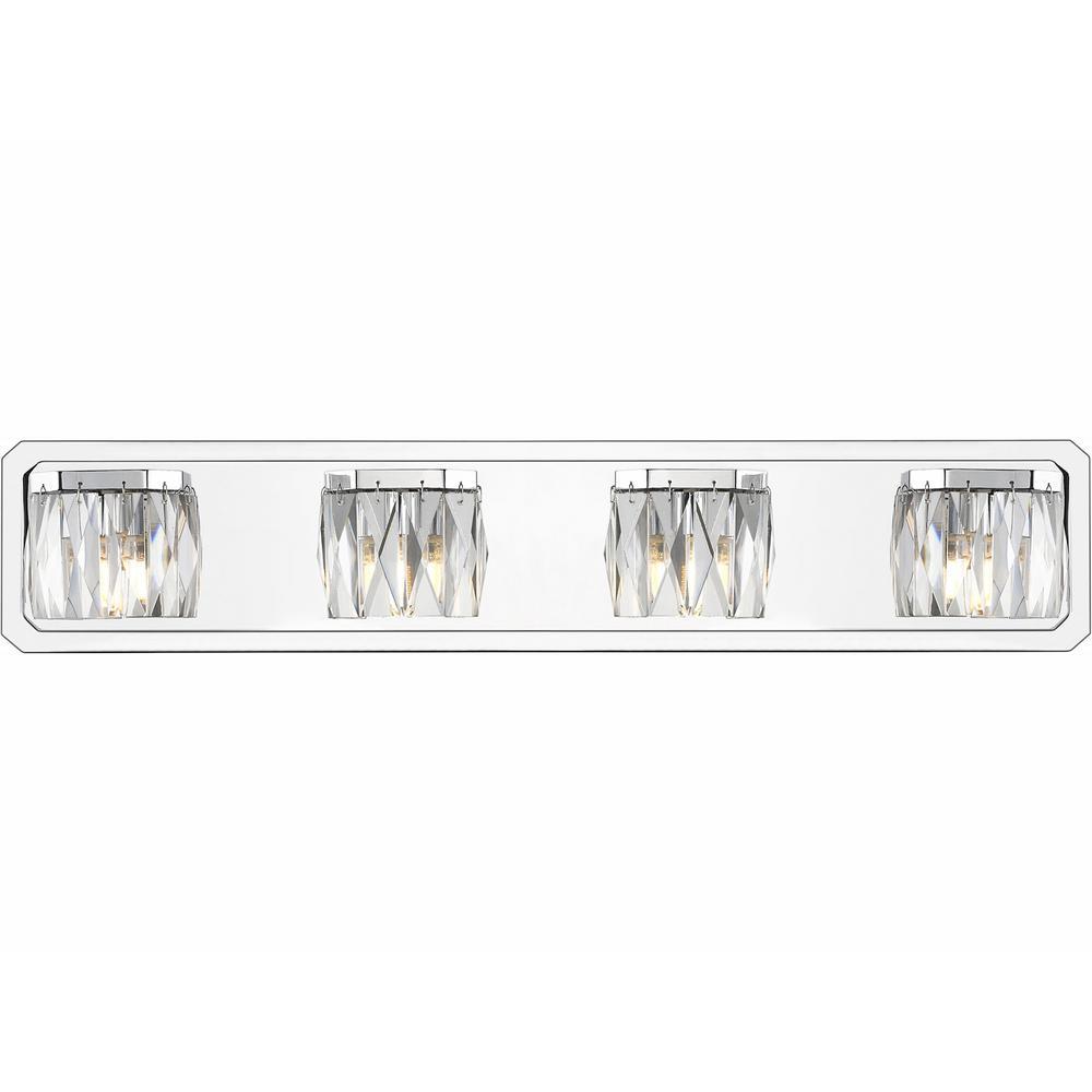 Krysta 4-Light Chrome Bath Light