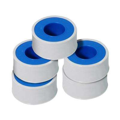 1/2 in. x 260 in. PTFE Thread Seal Tape for Plumbers in White (Pack of 5-Rolls)