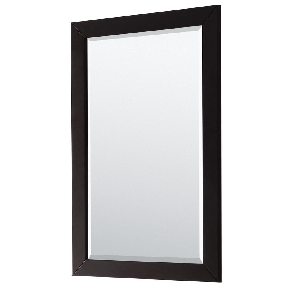 Daria 24 in. W x 33 in. H Framed Wall Mirror in Dark Espresso