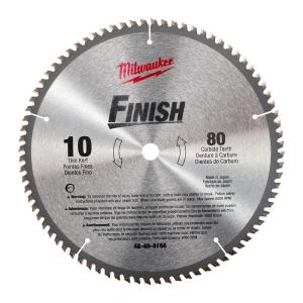 Milwaukee 10 inch x 80 Carbide Tooth Circular Saw Blade by Milwaukee