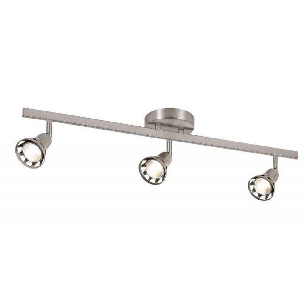 Cabernet 2.3 ft. 3-Light Brushed Nickel Track Lighting Kit
