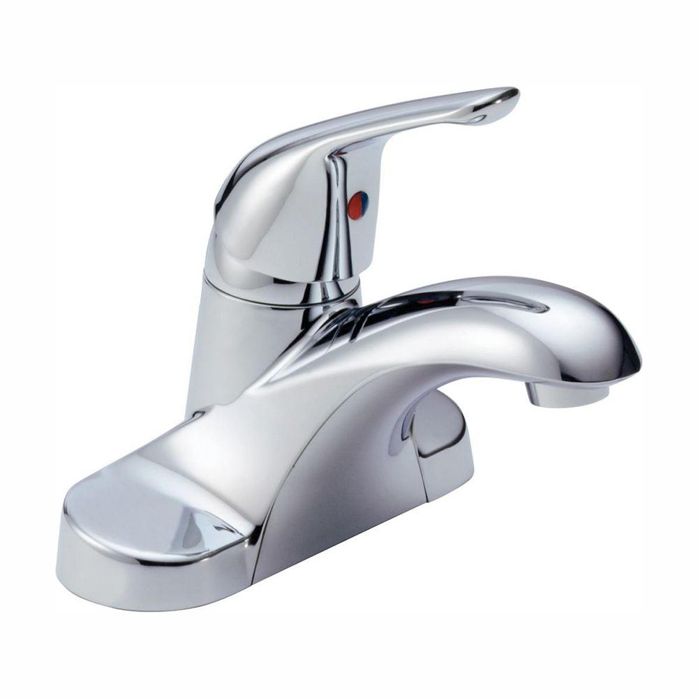 Delta Foundations 4 in. Centerset Single-Handle Bathroom Faucet in Chrome