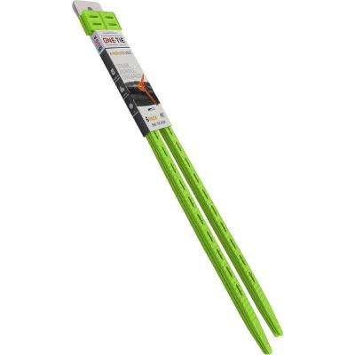 20 in. Cable Ties, Bright Green (6-Pack)