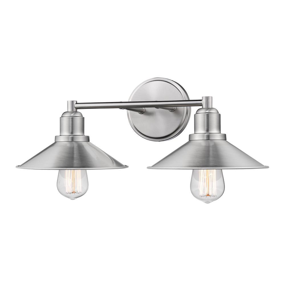 Brushed Nickel - Vanity Lighting - Lighting - The Home Depot