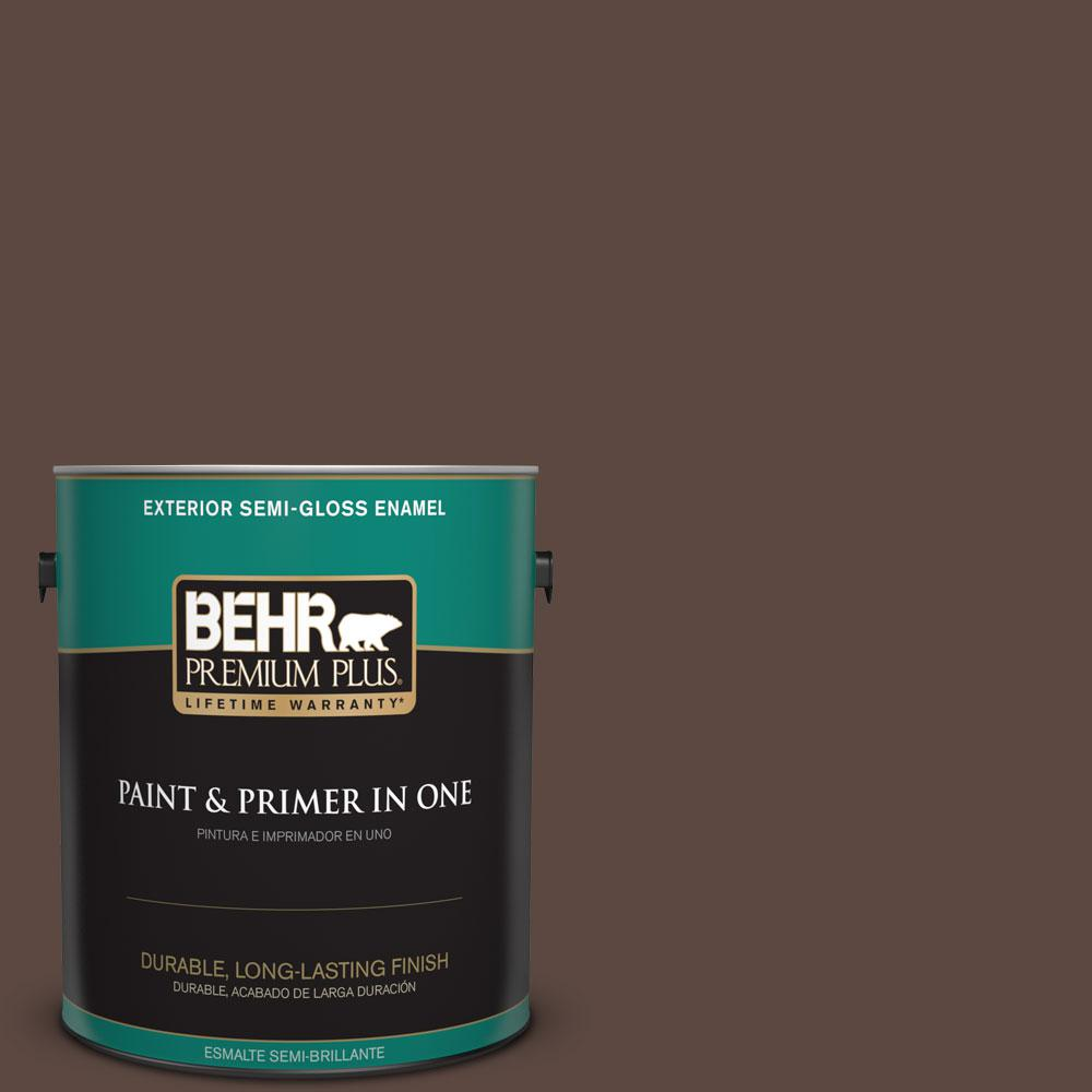 1-gal. #N170-7 Baronial Brown Semi-Gloss Enamel Exterior Paint