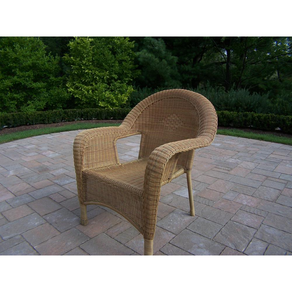 Honey Wicker Outdoor Dining Chair