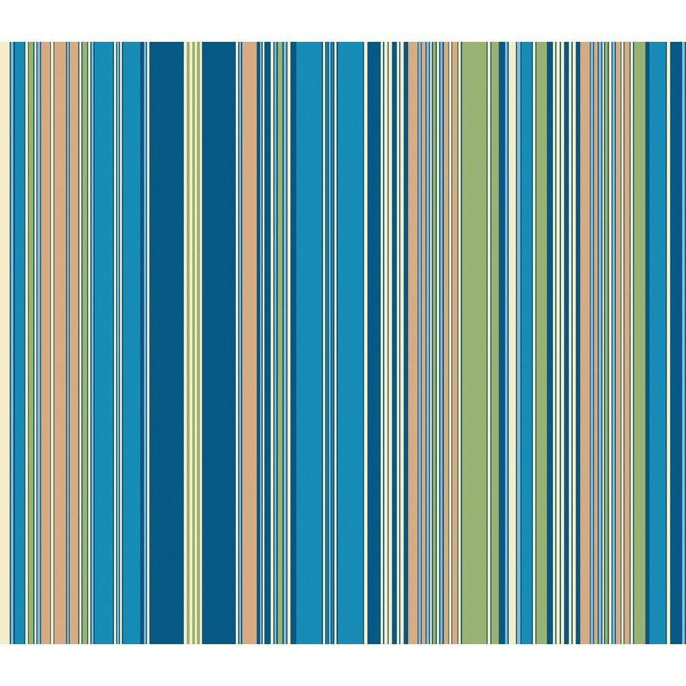The Wallpaper Company 56 sq. ft. Brightly Colored Barcode Stripe Wallpaper