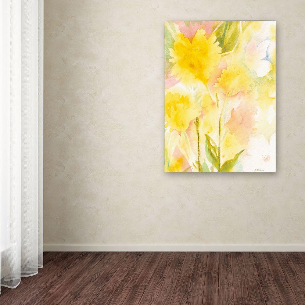 24 in. x 18 in. Butterfly Silhouette Canvas Art