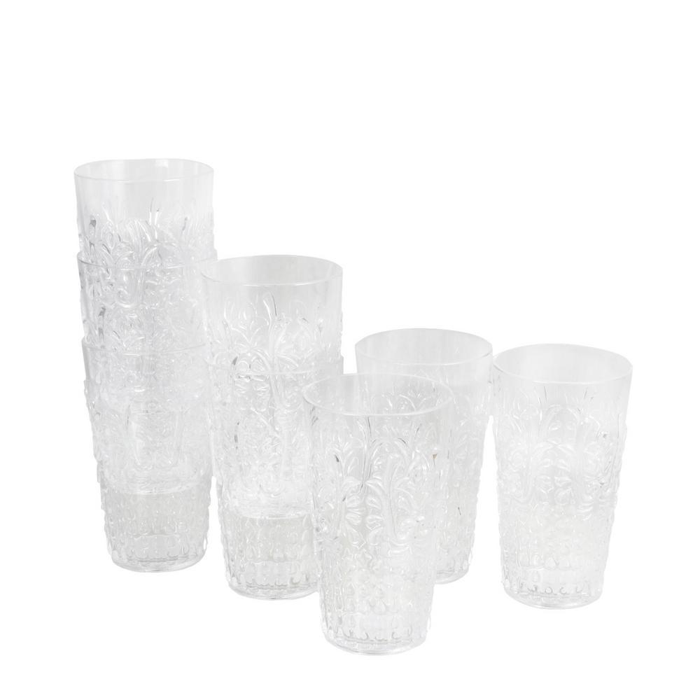 Elmira 20.5 oz. Clear Acrylic Tumbler (8-Pack)