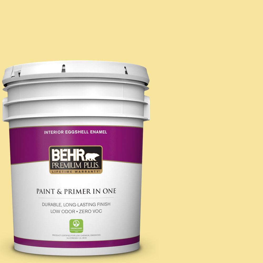 BEHR Premium Plus 5 gal. #P310-4 Storm Lightning Eggshell Enamel Zero VOC Interior Paint and Primer in One
