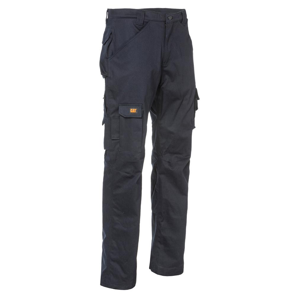 dc29a555508 Caterpillar Flame Resistant Men s 44 in. W x 30 in. L Navy Cotton Nylon FR  Cargo Work Pant-1810006-57E-44 30 - The Home Depot